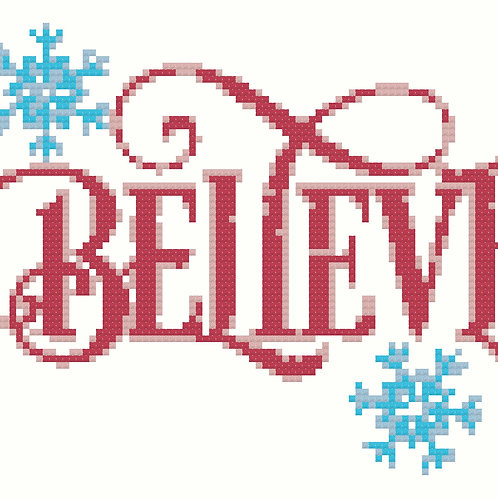 Believe Cross Stitch Pattern Download