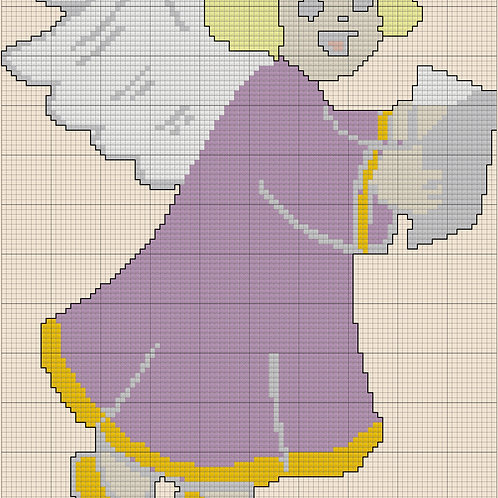 Angel with Bible Cross Stitch Pattern