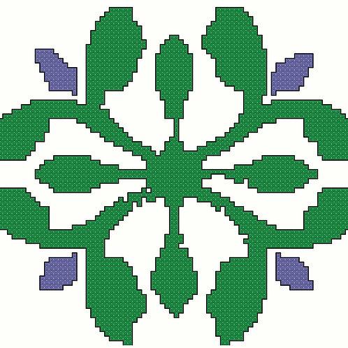 Arabic Motif in Green