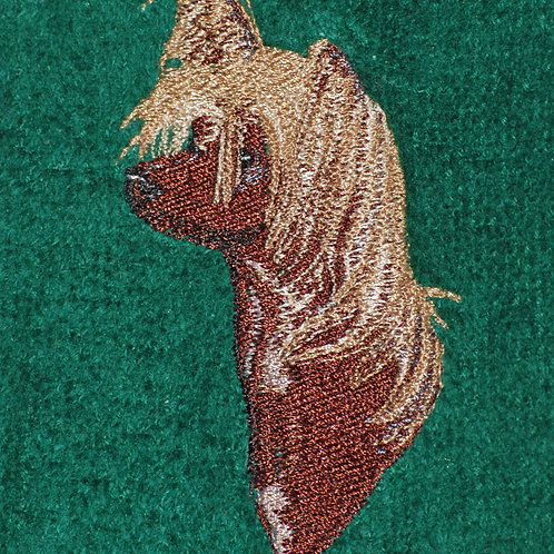 Chinese Crested Dog Embroidered Guest Towel