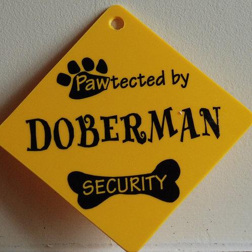 Doberman, Pawtected by