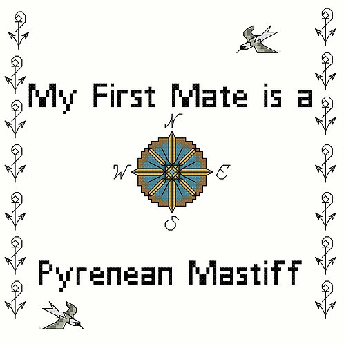 Pyrenean Mastiff, My First Mate is a