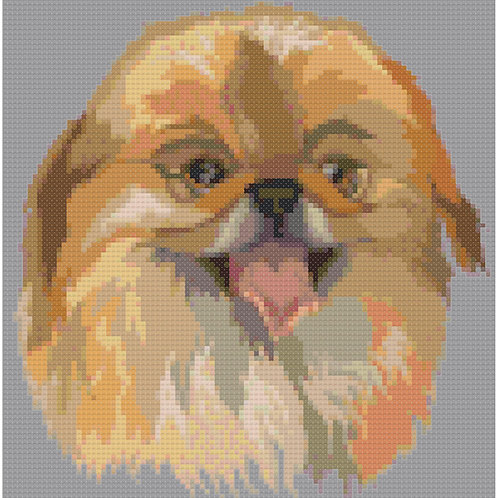 Pekingese Portrait cross stitch