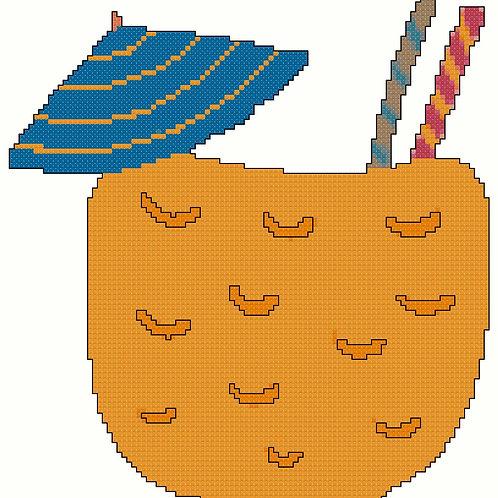 Cool Tropical Refreshment cross stitch
