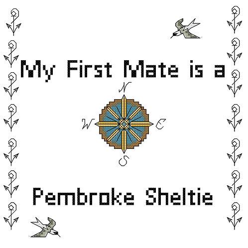Pembroke Sheltie, My First Mate is a