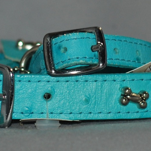 Leather Brothers Signature Leather Dog Collar with Bones