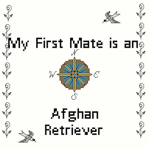 Afghan Retriever, My First Mate is a