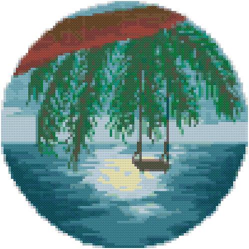 Swing by the Sea cross stitch