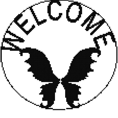 Butterfly Welcome Sign Round