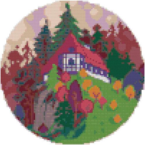 Hilltop Paradise cross stitch