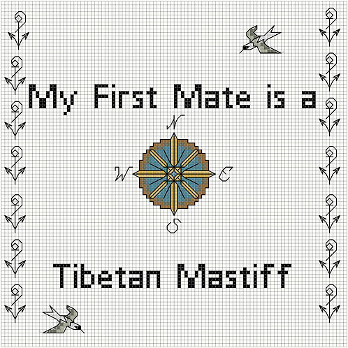 Tibetan Mastiff, My First Mate is a
