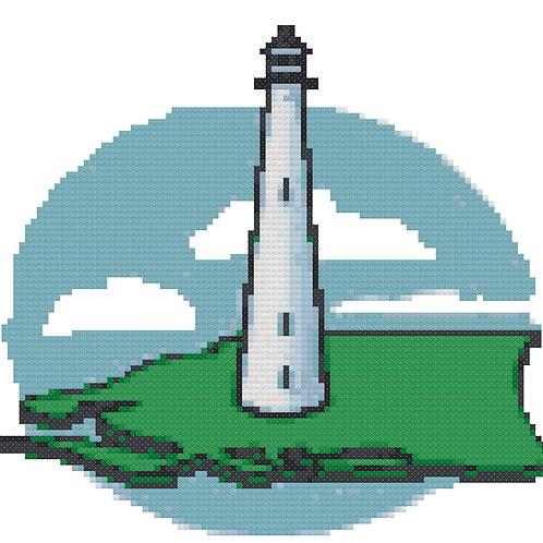 Lighthouse cross stitch