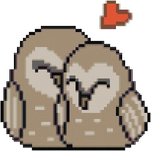 Cuddly Owls cross stitch