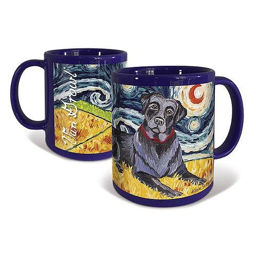 Labrador Retriever, Starry Night Mug