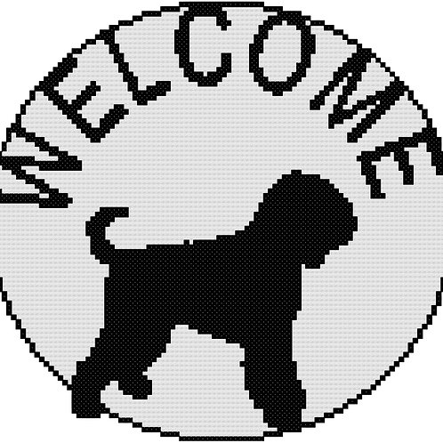 Cairn Terrier Welcome Sign Round