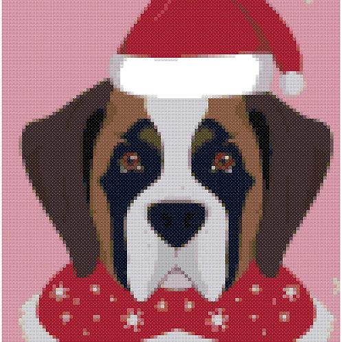 Boxer Christmas portrait 1