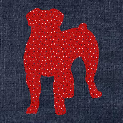 Boerboel Applique Patriotic Pillow