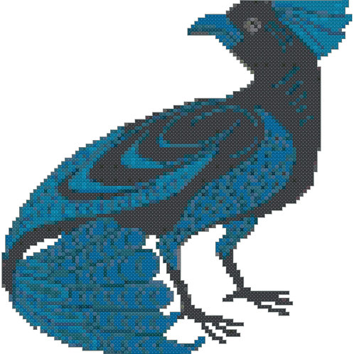 Mystical Bird cross stitch