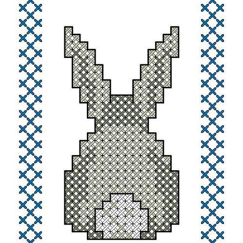 Bunny Bookmark Cross Stitch Pattern