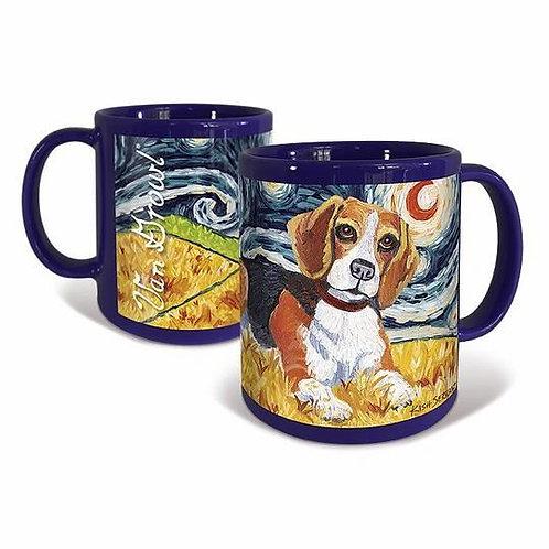 Beagle, Starry Night Mug