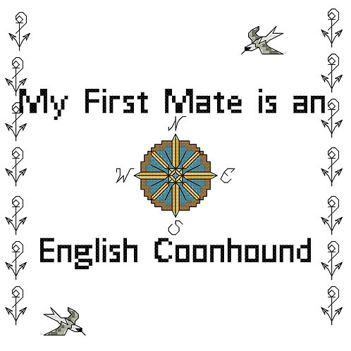 English Coonhound, My First Mate is a