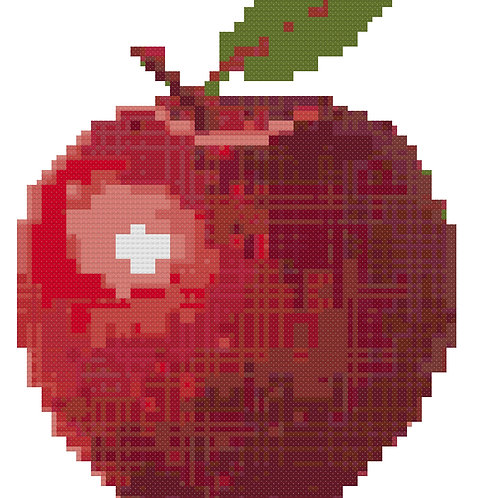 Shiny Apple Cross Stitch Pattern