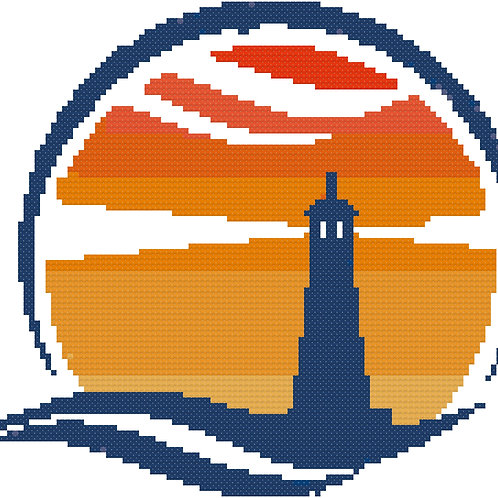 Sentinel of the Sea Lighthouse Cross Stitch