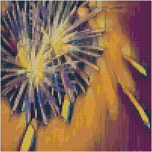 Fireworks Bursting Above cross stitch
