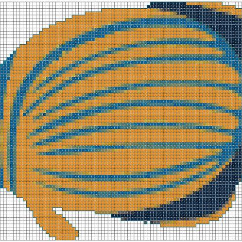 Orange and Blue Fish cross stitch