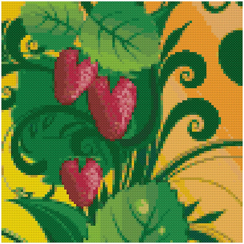 Enticing Strawberries cross stitch