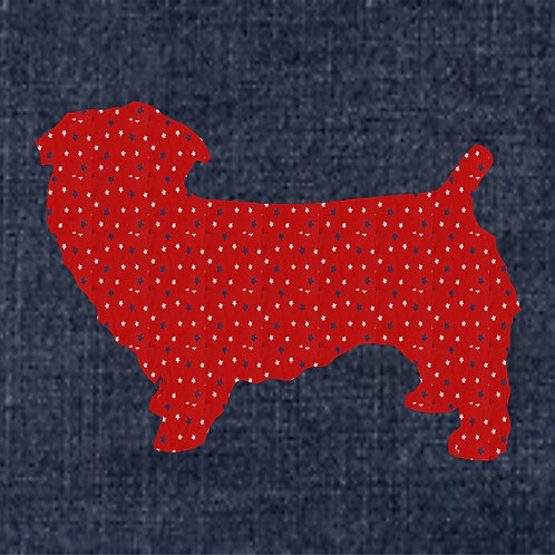 Glen of Imaal Terrier Applique Patriotic Pillow