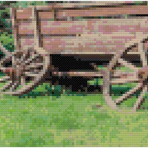 Farm Wagon cross stitch