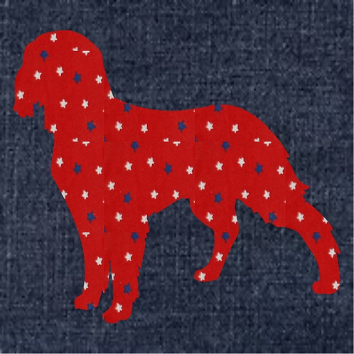 French Spaniel Applique Patriotic Pillow