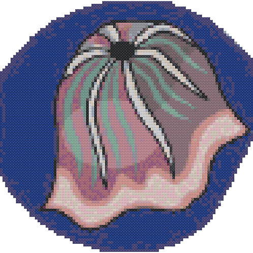 Graceful Jellyfish  cross stitch