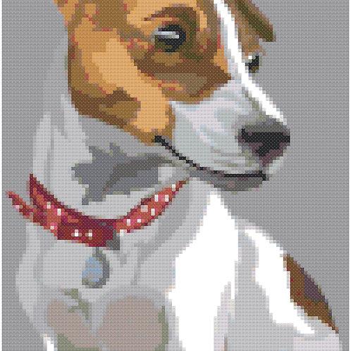 Jack Russell Terrier Portrait cross stitch