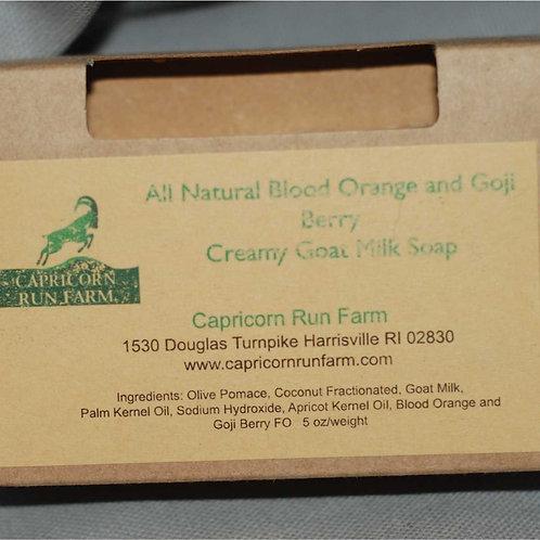 Blood Orange and Goji Berry Creamy Goat Milk Soap