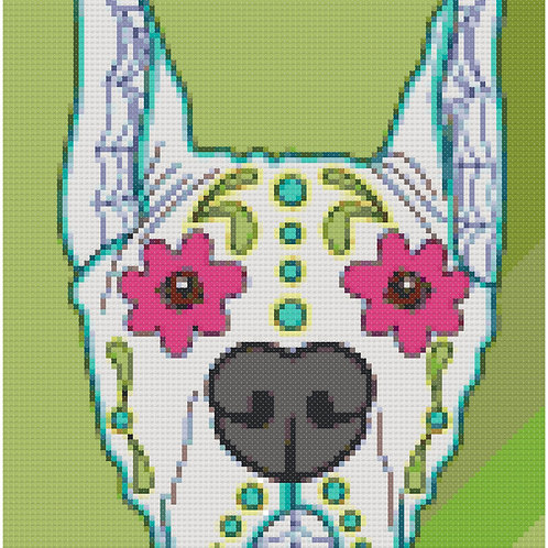 Great Dane Day of the Dead Portrait