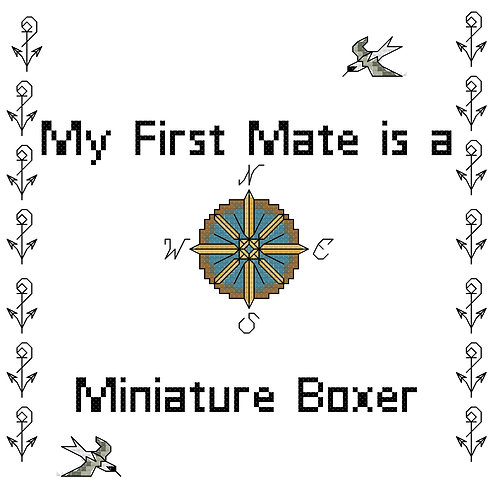 Miniature Boxer, My First Mate is a
