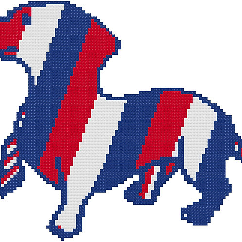 Dachshund Red White and Blue