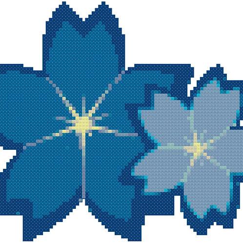 Blue Flowers1 Cross Stitch Pattern Download