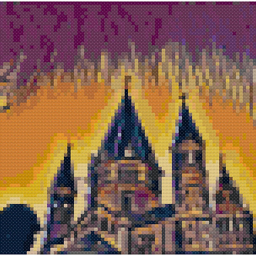 Stately Cathedral in Retro Pop