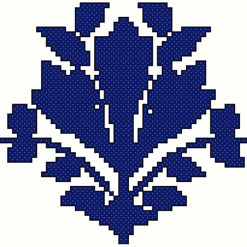 Arabic Bouquet Cross Stitch Pattern