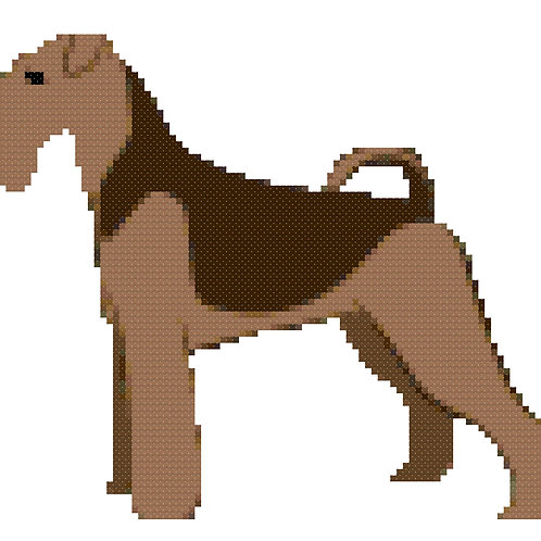 Airedale Terrier Full Body cross stitch