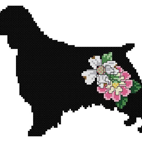Welsh Springer Spaniel With Flowers