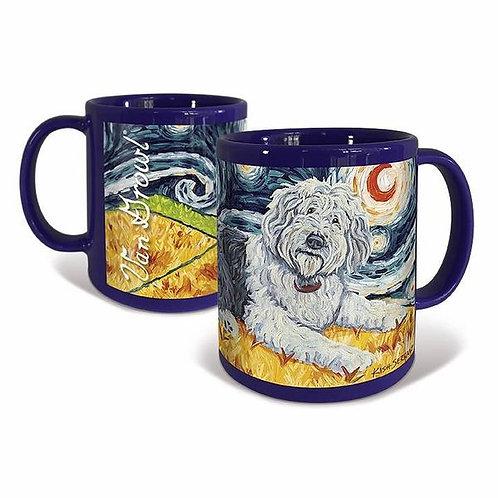 Old English Sheepdog, Starry Night Mug