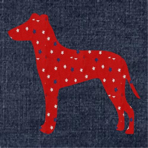 Manchester Terrier Applique Patriotic Pillow