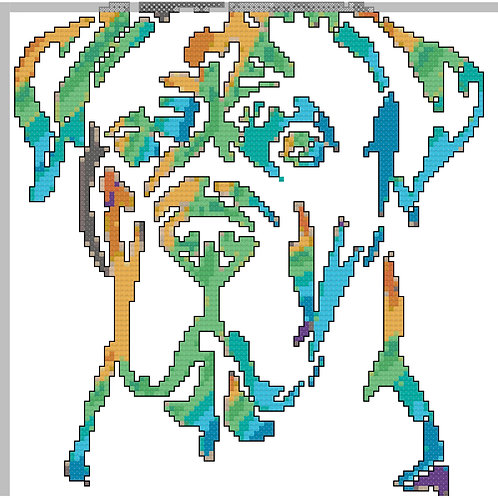 Italian Mastiff Rainbow Portrait