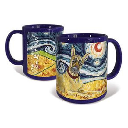 Great Dane, Starry Night Mug