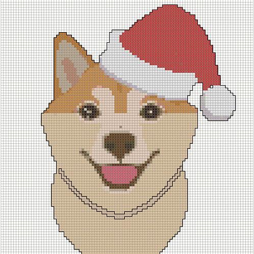 Shiba Inu Christmas Portrait