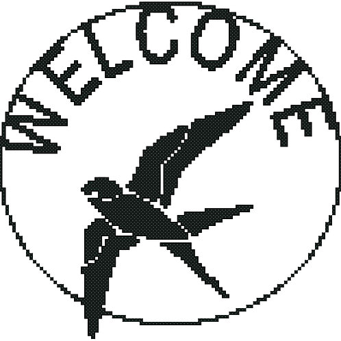 Swallow Welcome Sign Round